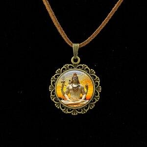 Image 5 - Collier Collares Maxi Necklace Om Yoga Muslim Zen Necklace Mandala Religious Culture Jewelry Henna Buddhism Meditation Pendant