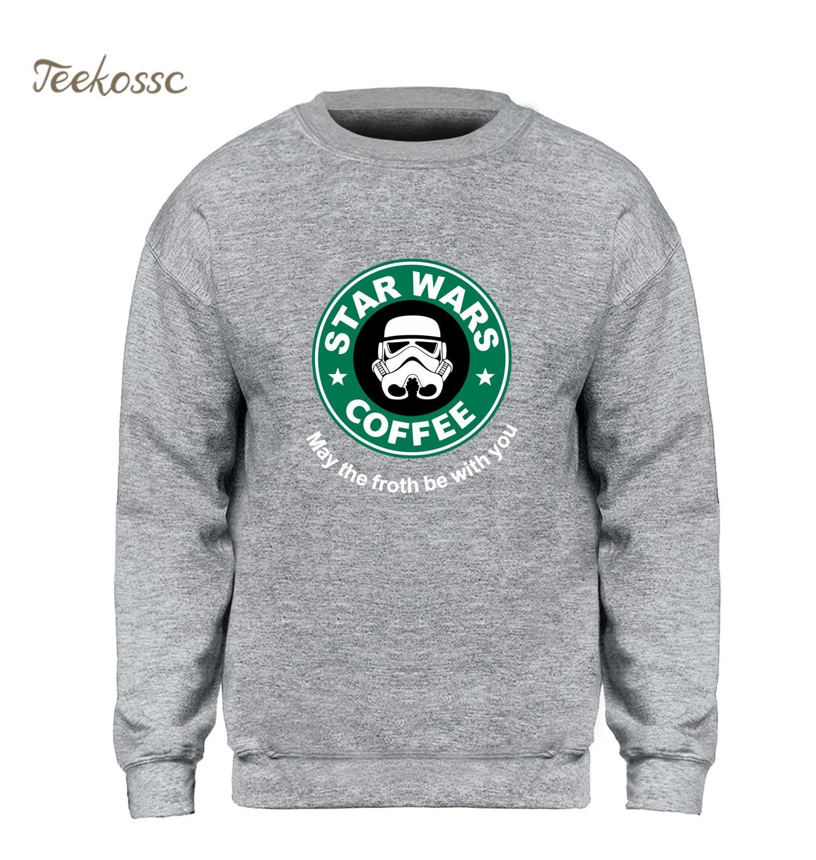 Star Wars Hoodie Men Coffee Sweatshirt May The Froth Be With You Sweatshirts 2018 Winter Autumn Fleece Warm Brand Clothing Mens