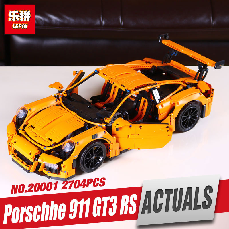 LEPIN 20001 New technic series 911 GT3 RS Race Car Model Building Kits Blocks Bricks Compatible 42056 Boys Gift
