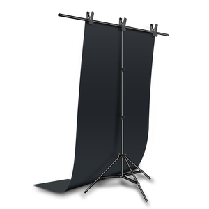 Image 2 - Black 68x130cm 27*51inch Photography Backdrop Paper Matte PVC Vinyl Seamless Background Seamless Water proof