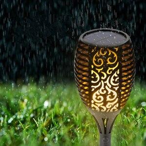 Image 4 - Tocha led com 96 lâmpadas, à prova d água, energia solar, para áreas externas, decoração para paisagem, para jardim