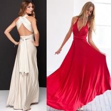 Women's Long Maxi Dress Convertible Wrap Gown Dress Bandage Bridesmaid Evening Party Dress For Pregnants Sexy Elegant Dress