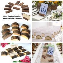 Adeeing 10 шт. деревянные держатели для фото карт настольная Марка имя бирка стенд для свадебной вечеринки