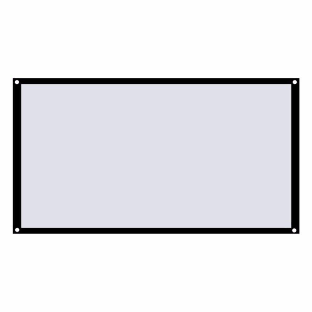 Gran pantalla de proyección para el hogar plegable de 16:9 cine al aire libre 60/72/84/100 pulgadas 120 pantalla de vídeo para proyector