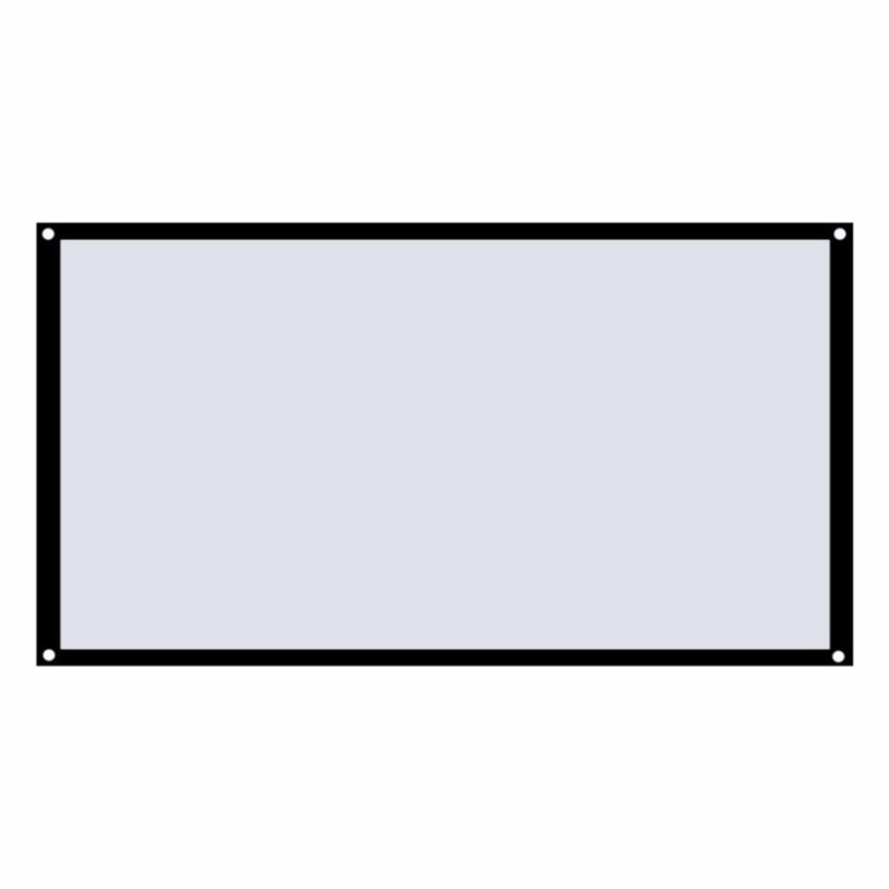 Large 16:9 Foldable Design Home Projection Screen Film Theater Outdoor 60/72/84/100/120 inch Movie Video Screen for Projector support for customfree shipping 120 inch projector mount screen 16 9 gf grey