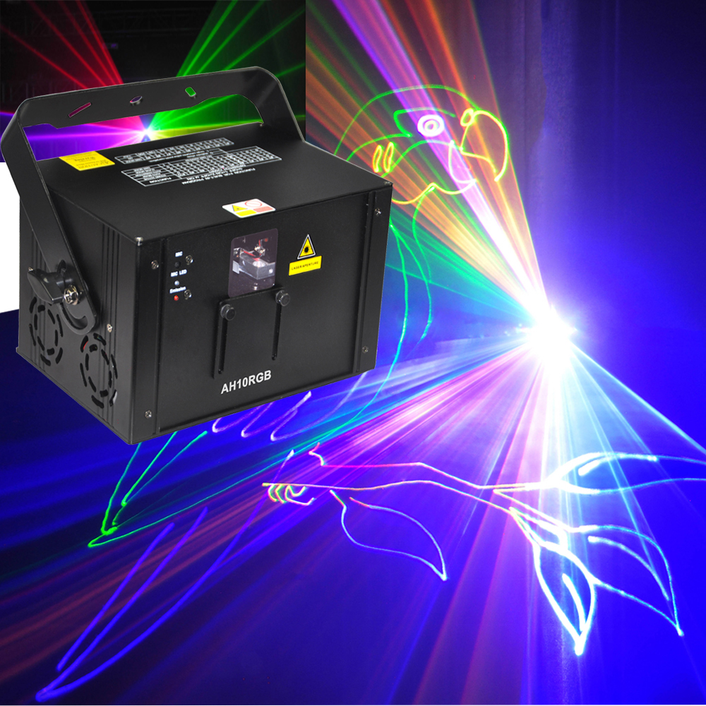 New 1000mw RGB 1W full color animation laser Stage Lighting ilda 20kpps Red 638nm Beam show