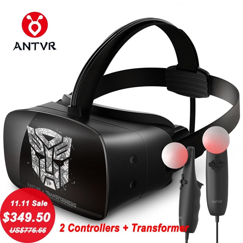 ANTVR Новинка 2017 года виртуальной реальности Гарнитура погружения 3D VR очки виртуальный пк очки коробка бинокль 110 FOV 1200*2160 VR трансформатор