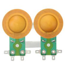 LEORY New 2pcs 25.5mm Horn Treble Film Resin Membrane Drive Head Tweeter Voice Coil(China)