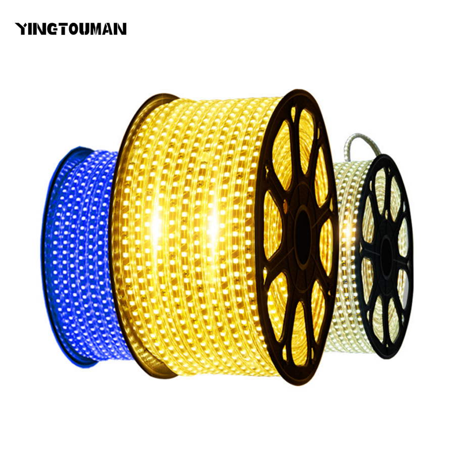 YINGTOUMAN Double Row 5m Light Strip Plug Waterproof LED Lamp Festive Holiday Party Chri ...