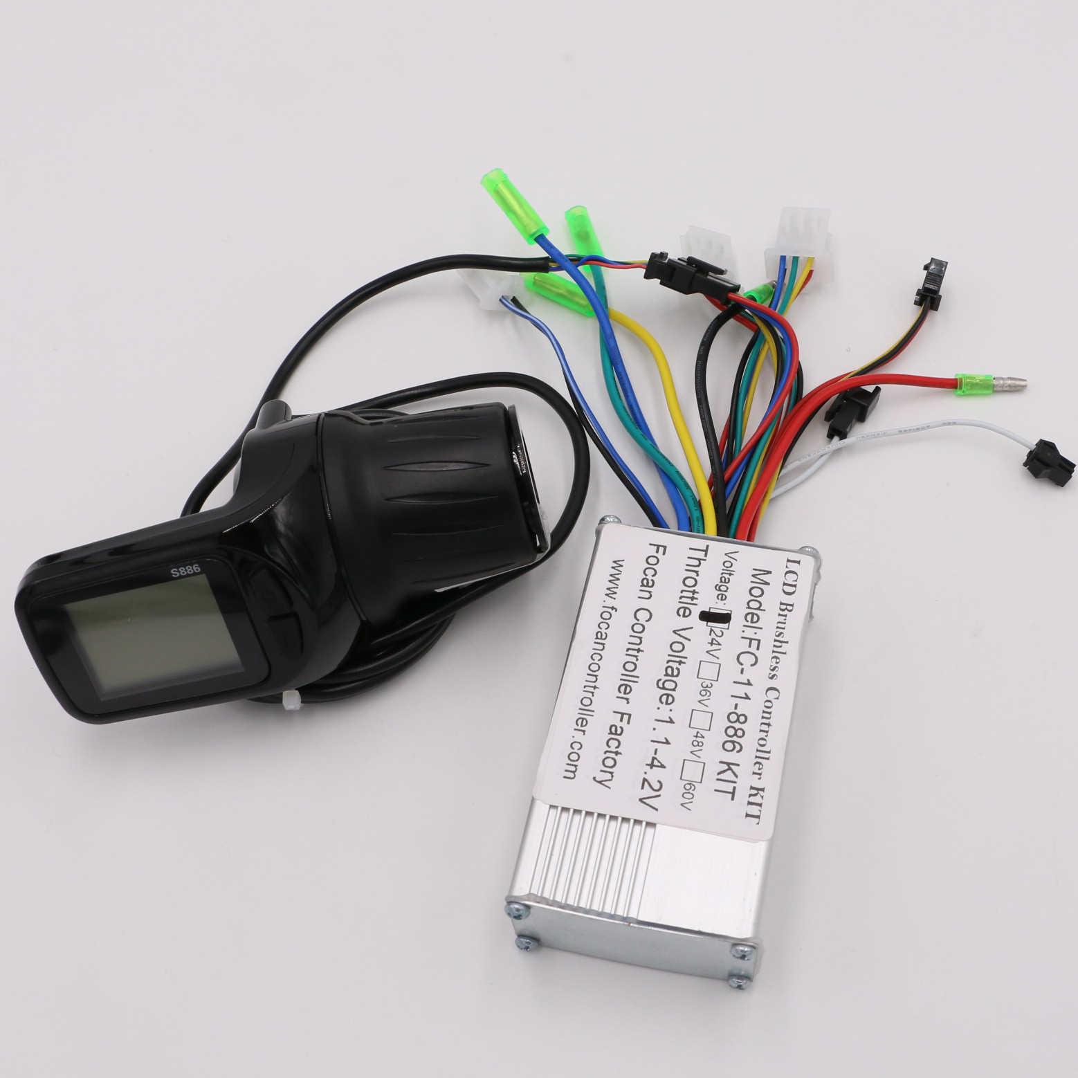 24 V/36 V/48 V silnik bezszczotkowy kontroler panel wyświetlacza lcd kciuk przepustnicy elektryczny rower skuter bezszczotkowy kontroler zestaw