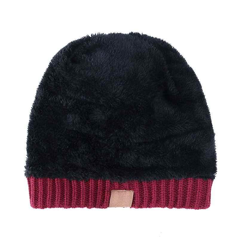 Chapéu de malha chapéu de inverno moda malha boné adulto crianças cair grosso e quente e gorro skullies gorro macio malha com tag