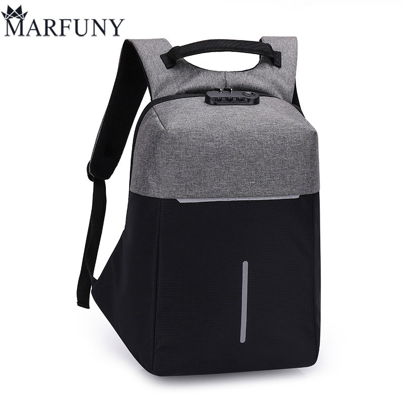 Fashion Male Mochila Leisure Travel Backpack Anti Thief Multifunction USB Charging Men 15inch Laptop Backpacks For