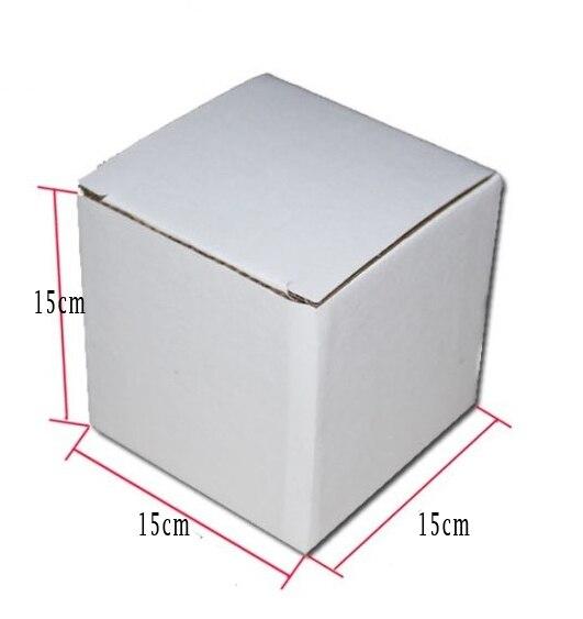 15 15 15cm white Brown colour kraft paper E corrugated Paper board box candy glass bottle