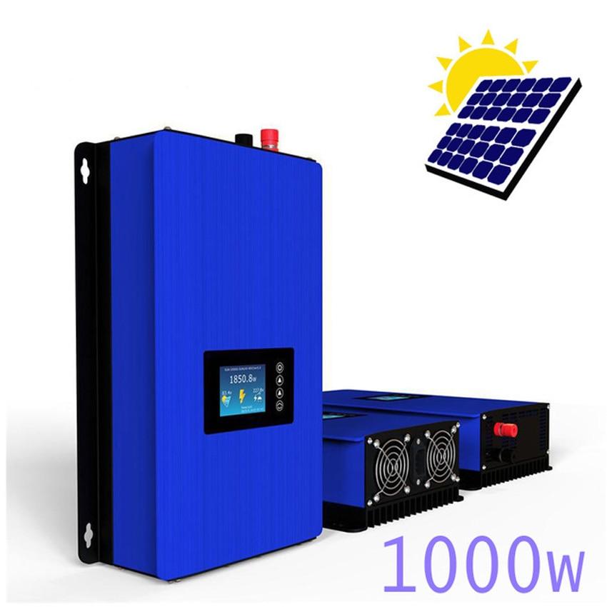 1000W MPPT pure sine wave Solar Grid Tie inverter 1KW with battery discharge mode DC45-90V to AC110V 120V 220V 230V 240V 600w on grid tie inverter 18v panel 36cells 220v output dc to ac mppt function pure sine wave inverter