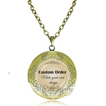 Buy design your own jewelry and get free shipping on aliexpress copper round locket pendant glass necklace custom order make your own design jewelry statement necklaces men aloadofball Images