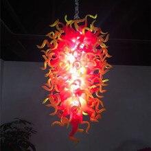 Brand New Orange Red Style Hand Made Blown Glass Chandelier Lighting Luxury for Kitchen Room
