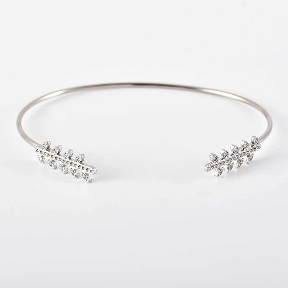 6 sztuk/zestaw pani bransoletki w stylu Vintage liści ananasa okrągły kryształ srebrny otwarta bransoletka zestaw Fashion Party biżuteria akcesoria do prezentów