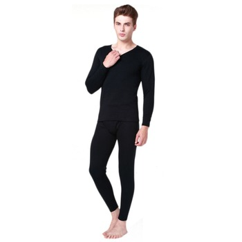 Men Thermal Underwear Set Winter Pullover Winter Warm Tops+Pants 2 Piece Male Clothing Set Hot 2018 Long Johns