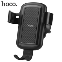 HOCO Gravity Car Phone Holder 360 Degrees Air Vent Mount Bracket Universal for 4-6.5 inch Smartphone + Wireless Fast Charger 3.0