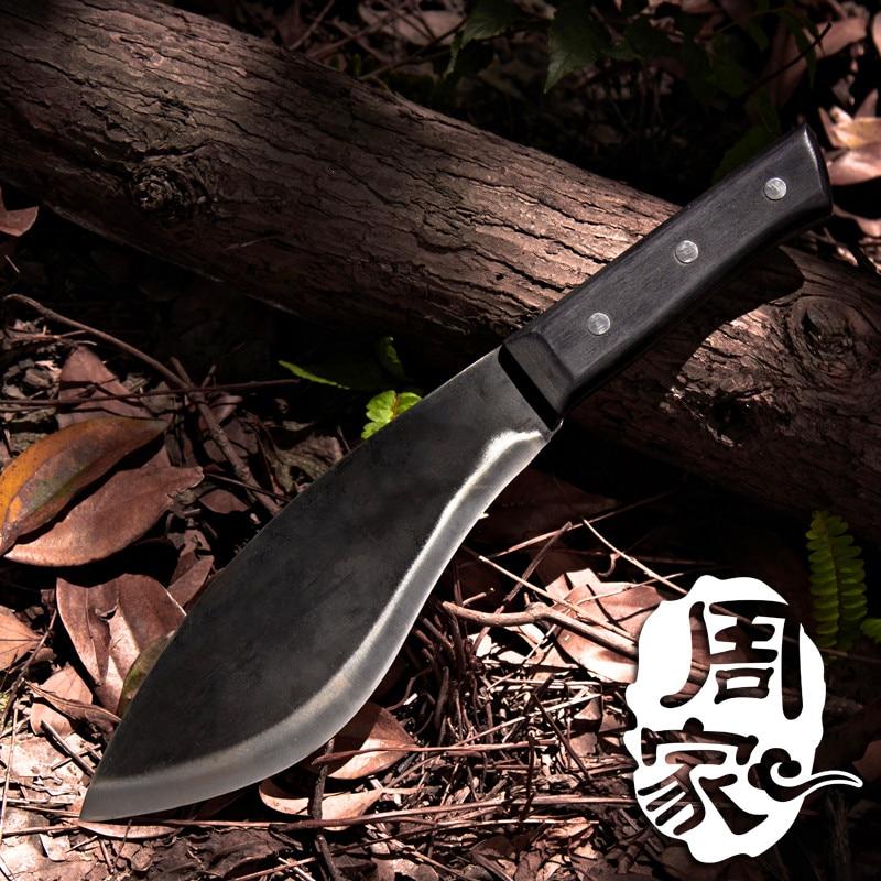 Livraison Gratuite ZGX Forgé Cuisine Chef Chop Couteau D'os Coupé À La Main Os Ménage Couteau À Trancher Outil De Coupe Multifonctionnel
