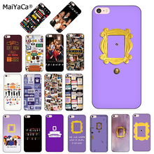 MaiYaCa friends tv silicone soft Phone case for iPhone 8 7 6S Plus X XS MAX XR 5S SE 11pro Cover series Purple door