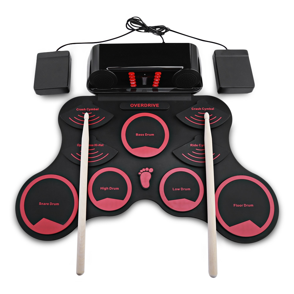 AEOFUN 10 Pads Electronic Silicone Roll Up Drum Kit with Recording Function Portable Electronic Drum Digital USB AEOFUN 10 Pads Electronic Silicone Roll Up Drum Kit with Recording Function Portable Electronic Drum Digital USB