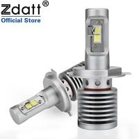 Zdatt 2Pcs High Power H4 Led Bulb 100W 14600LM Auto Headlights H4 H8 H9 H11 9005