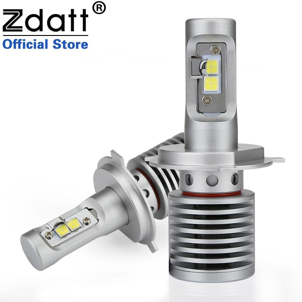 Zdatt 2 Pcs Haute Puissance H4 LED Ampoule 100 W 14600LM Auto Phares H4 H8 H9 H11 9005 HB3 9006 HB4 Voiture LED Lumière 12 V Automobiles