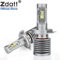 Zdatt 2Pcs High Power H4 Led Bulb 100W 14600LM Auto Headlights H4 H8 H9 H11 9005