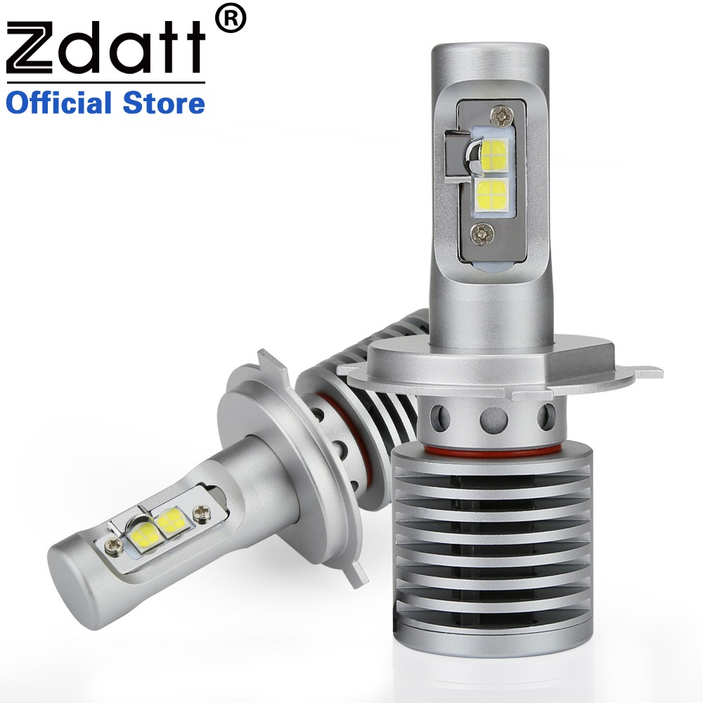 Zdatt 2Pcs High Power H4 Led Bulb 100W 14600LM Auto Headlights H4 H8 H9 H11 9005 HB3 9006 HB4 Car Led Light 12V Automobiles zdatt 2pcs 12000lm car led headlights h4 h7 h8 h11 9005 hb3 canbus auto led bulb hi lo beam 100w pair 12v fog lamp automobiles