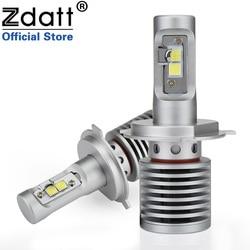 Zdatt 2Pcs High Power H4 Led Bulb 100W 14600LM Auto Headlights H4 H8 H9 H11 Car Led Light 12V Automobiles