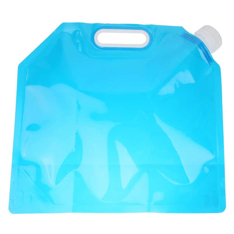 ポータブル 5L折りたたみ貯水リフティングバッグキャンプハイキングサバイバル食品グレードpe水バッグ