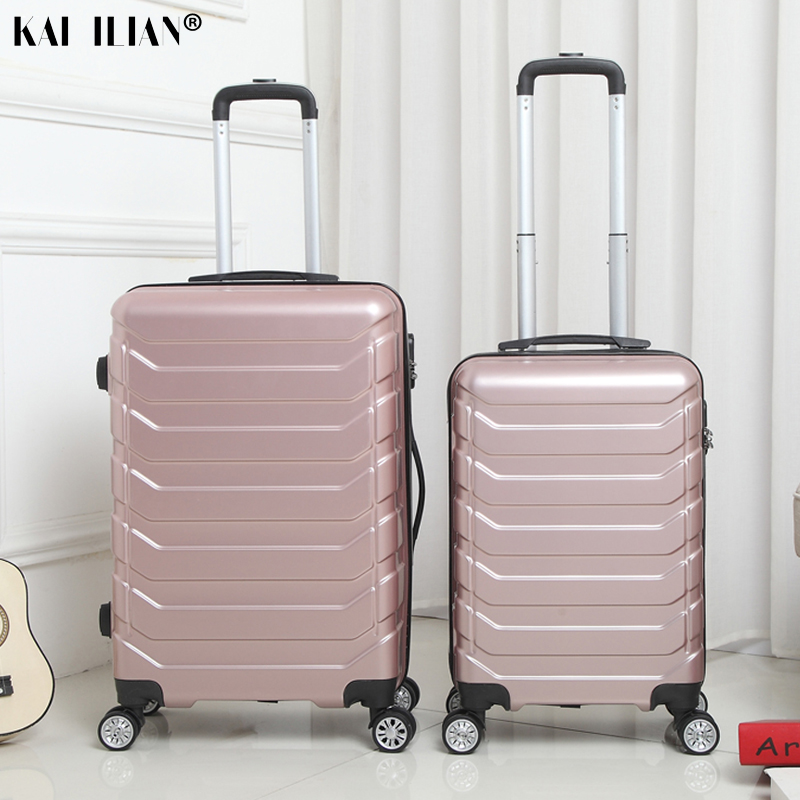 20''24'' Suitcase With Wheels Travel Cabin Spinner Rolling Luggage Women Trolley Case Box ABS+PC For Male Boaring Suitcase