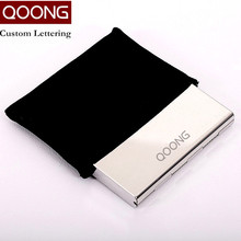 QOONG 3 PCS Stainless Steel Business Men Women Credit Card Holder ID Card Case Protector Rfid Travel Metal Card Wallet Carteira