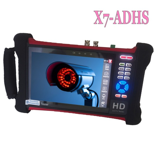 Бесплатная доставка DHL, тестер видеонаблюдения H.265 4K Wanglu X7 8 Мп, TVI CVI AHD SDI CVBS, тестер IP камеры, монитор с кабельным трассировщиком, тест кабеля UTP/RJ45