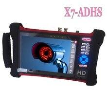 Dhl livre h.265 4 k wanglu cctv tester x7 8mp tvi cvi ahd sdi cvbs câmera ip tester monitor com cabo tracer, utp/teste de cabo rj45