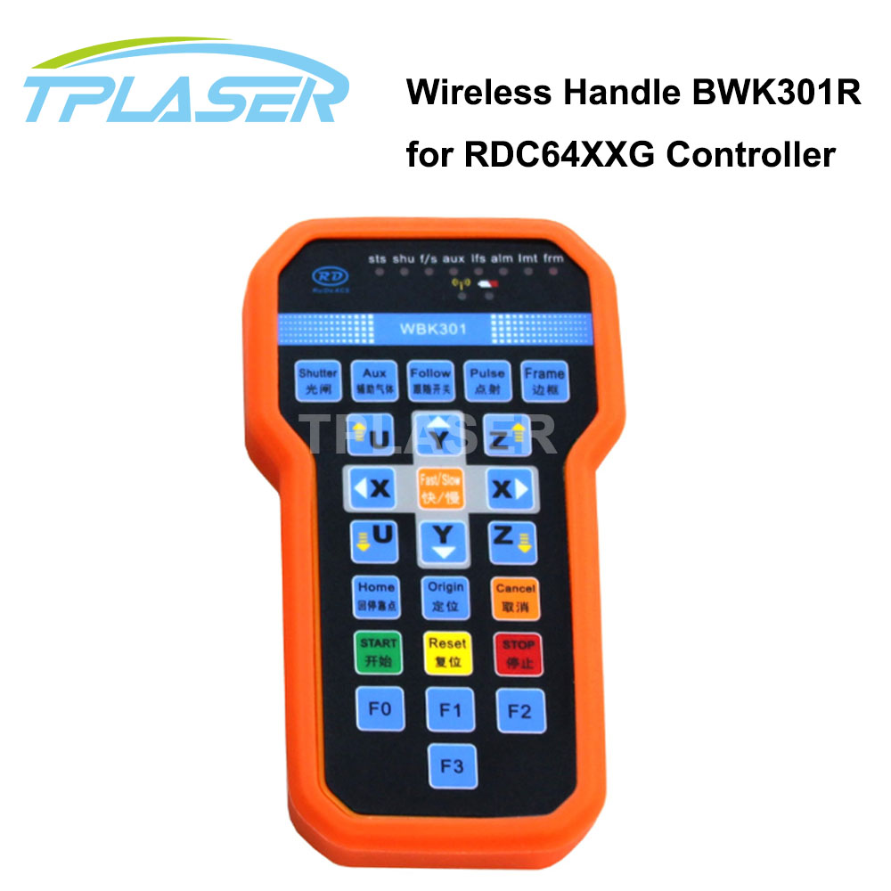 Ruida Wireless Operating Handle BWK301R for Co2 Laser Controller RDC6442G RDC6442S free shipping ruida rdc6442s co2 laser spare parts laser machine controler co2 laser controller system