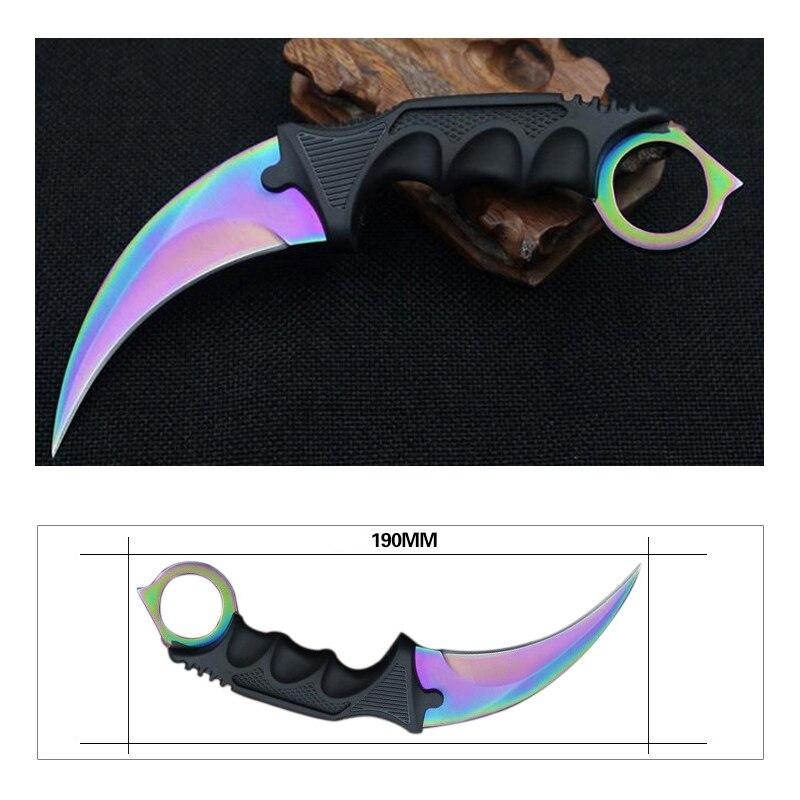 10PCS Thika Karambit CS GO Counter Strike Thika Survival Gjetja e - Kampimi dhe shëtitjet - Foto 3
