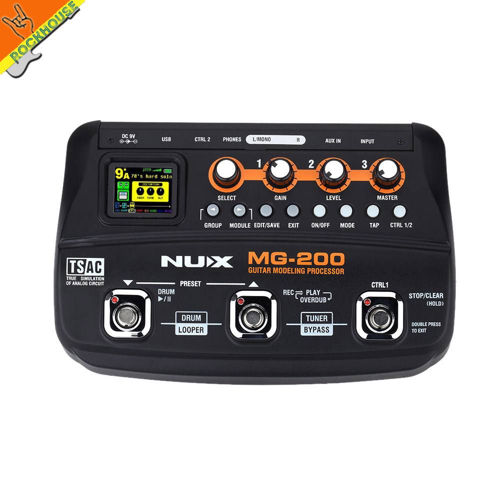 nux mg 200 guitar multi effects processor pedal guitarra modeling floor processor effects with. Black Bedroom Furniture Sets. Home Design Ideas