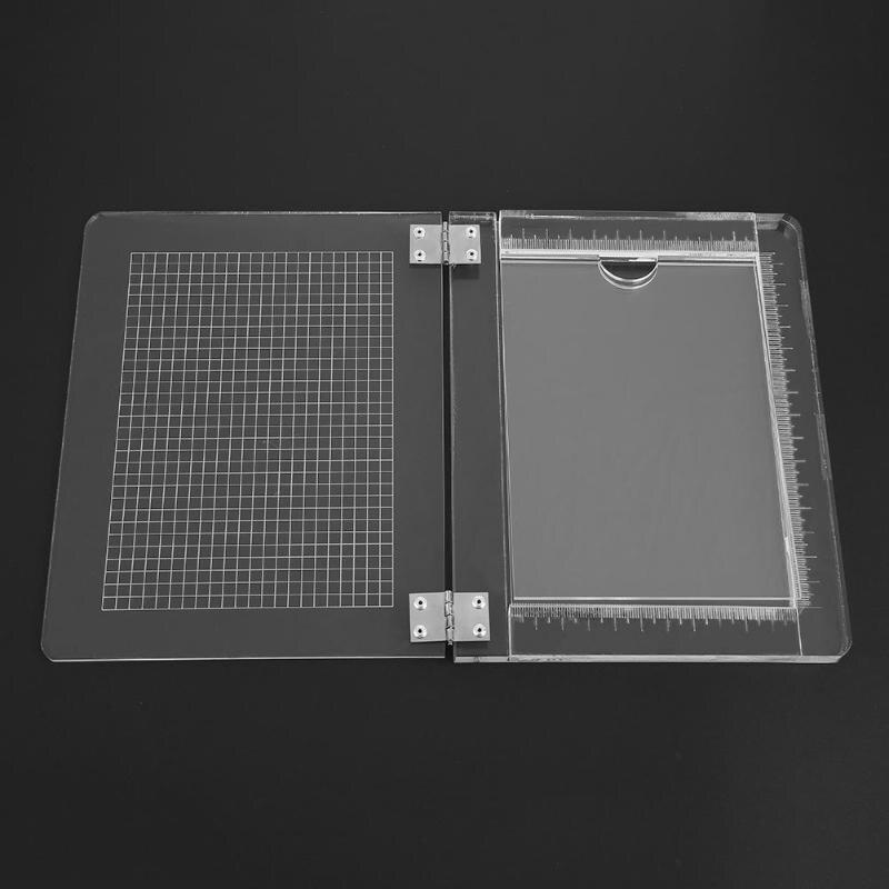 DIY Seal Stamp Block For Scrapbooking Photo Album Transparent Handle High Transparency Acrylic Pad Holder DIY Decoration Tools