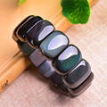Natural rainbow eye obsidian hand row bracelet fashion men and women bracelet crystal jewelry gift