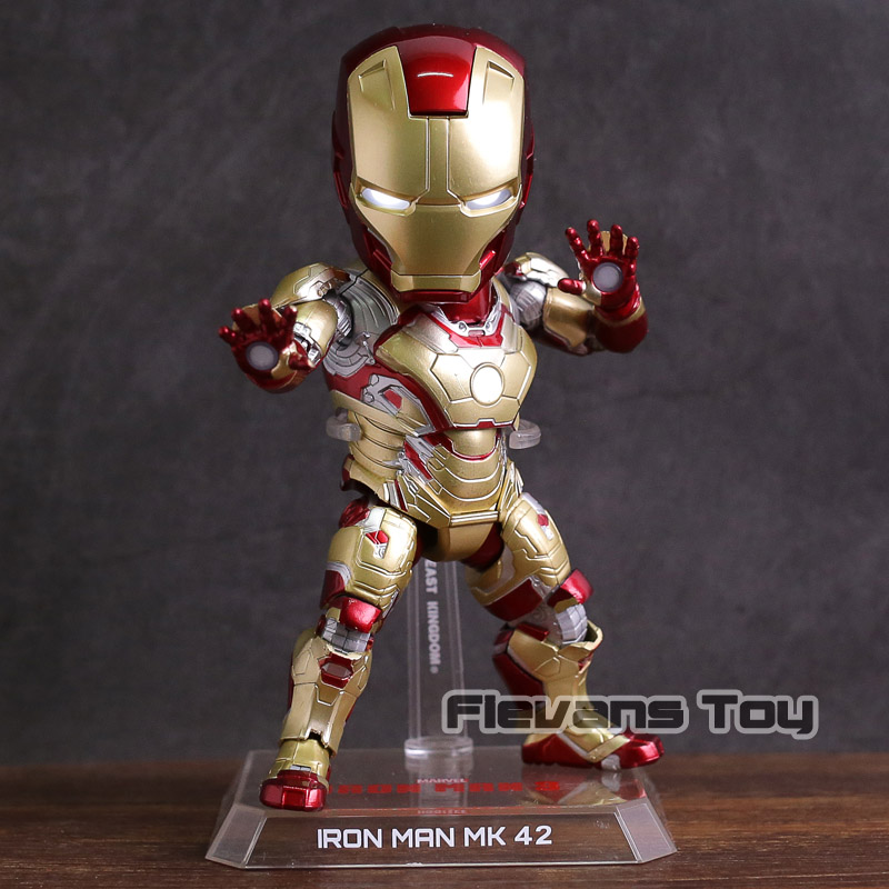 EAA-036 Marvel Iron Man 3 MARK 42 Action Figures Collectible Model Toy with LED Light цена