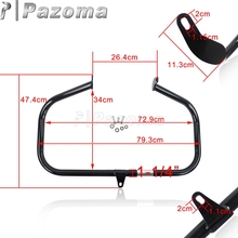 Pazoma Black Motorcycle Steel Highway Front Crash Bar Engine Guard Protection For Harley Softail FL 1986-1999