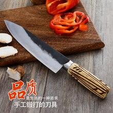 Freies Verschiffen Geschmiedet Küchenchef Schlachtung Messer Metzger Ausbeinmesser Geschmiedete Klinge Sharp Cleaver Fleisch Fisch Eviscerate Messer