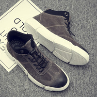 Spring Autumn Fashion PU Men Casual Shoes Solid Sewing Lace Up Sneakers Low Concise Casual Breathable Men's Vulcanize Shoes