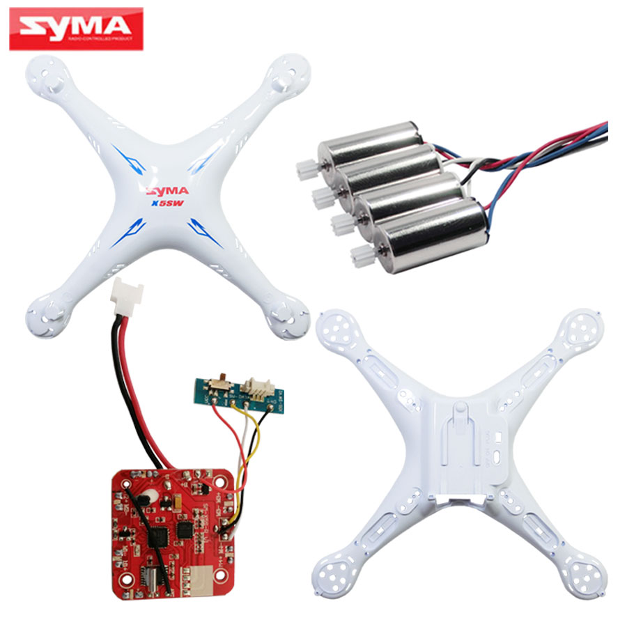 SYMA X5SC X5SW PCB Circuit board + 2A 2B Engine + Shell Main Body RC Helicopter Spare Pats Quadcopter Motor Accessories runcam 2 pcb main board
