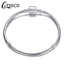 CUTEECO New Heart Apple Charm Bracelets Bear Pendant Fit Brand Bracelet For Women Engagement Party Jewelry Dropshipping