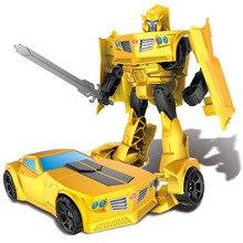 Transformasi Robot Mobil Plastik Action Figure Mainan Anak-anak Klasik Robot Transformasi Mobil Mainan Hadiah Natal untuk Anak-anak