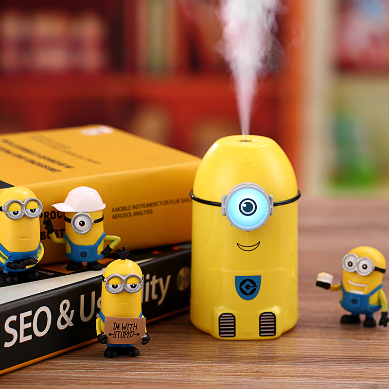 Mini Minions Air Humidifier for Car and Home Using Household Mist Maker Aroma Diffuser Water Spreyer