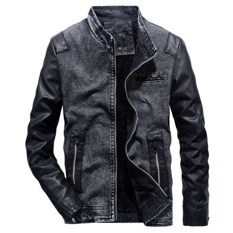 2018 hommes de survêtement jeans denim patchwork Jaqueta hommes occasionnels de mode automne grande taille mince veste